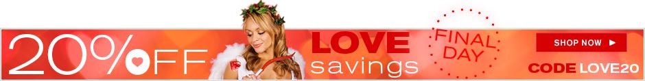 Love Savings 20% Off