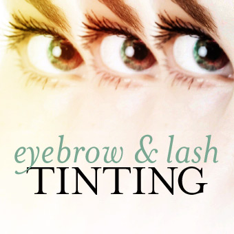 Eyebrow and Lash Tinting
